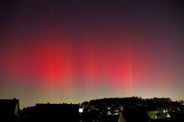 Aurora boreal en Alemania